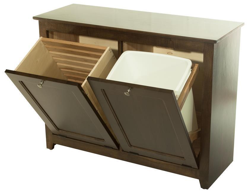 oak laundry bin